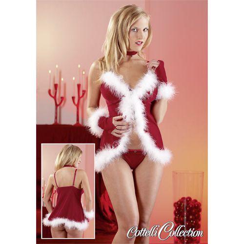 Karácsonyi babydoll szett - mikulásruha