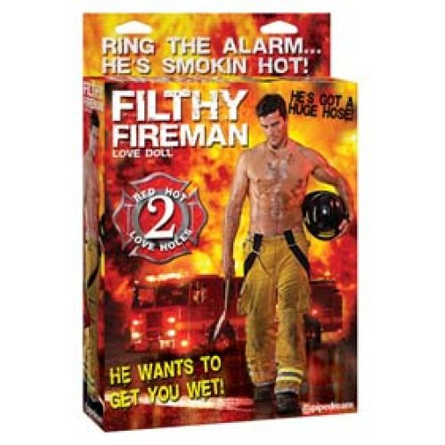 Filthy Fireman - felfújható PVC tűzoltó