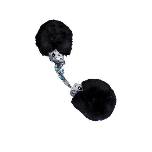 Csukló Plüss bilincs -fekete