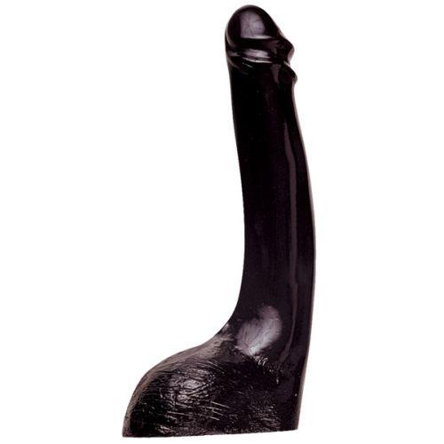 Teljesen fekete műpénisz hatalmas méretben.