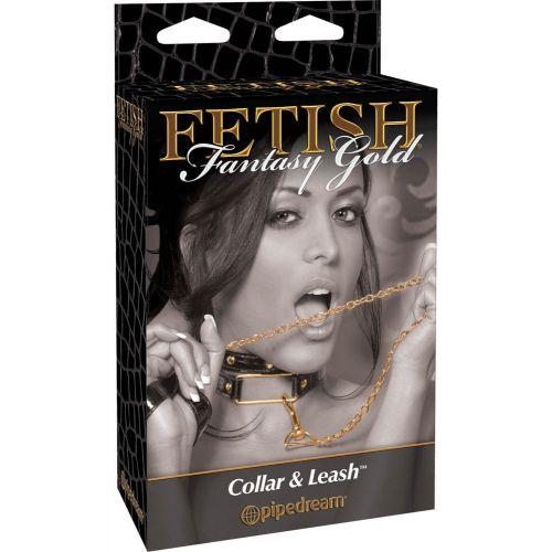 FF GOLD COLLAR & LEASH