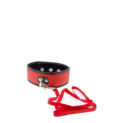 GP COLLAR AND LEASH RED