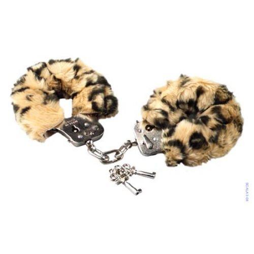 Love cuffs leopard plush