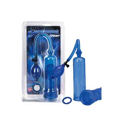 Péniszerősítő pumpa, latex betéttel és péniszgyűrűvel.