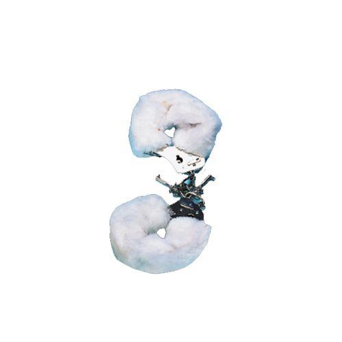 Csukló Plüss bilincs - fehér