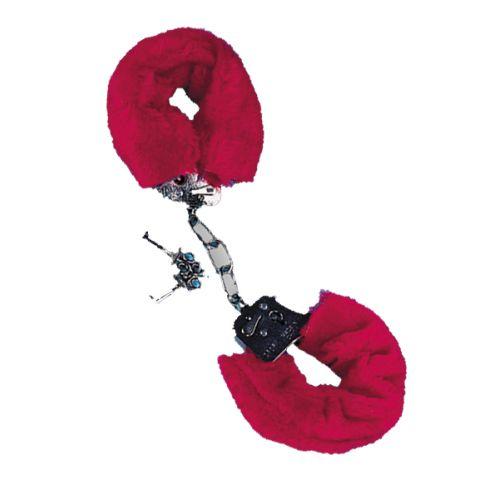 Csukló Plüss bilincs - vörös