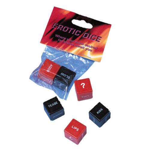Erotikus kockakészlet; Piros és fekete;